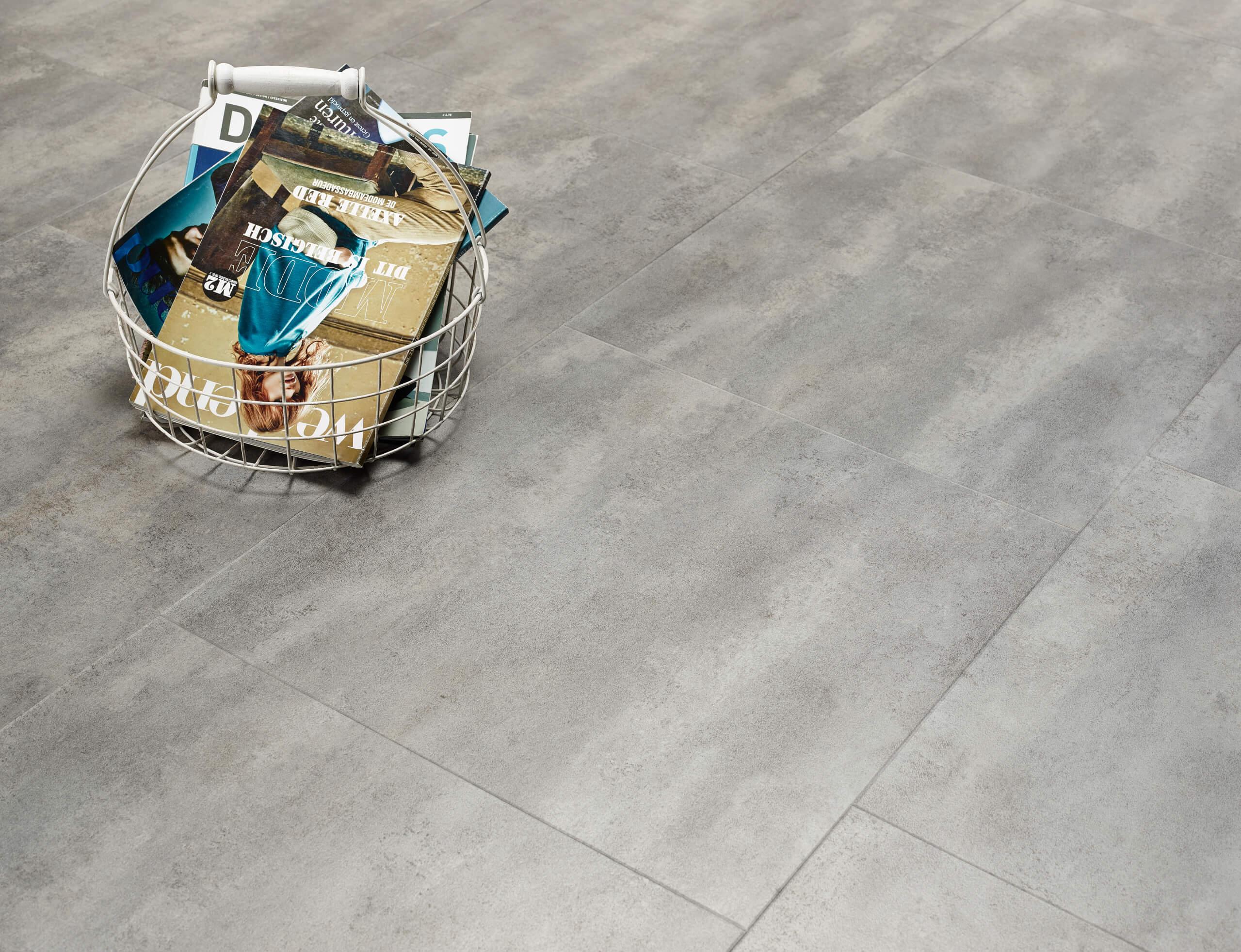 Cement Vinyl Flooring : Concrete stone effect luxury vinyl flooring moduleo
